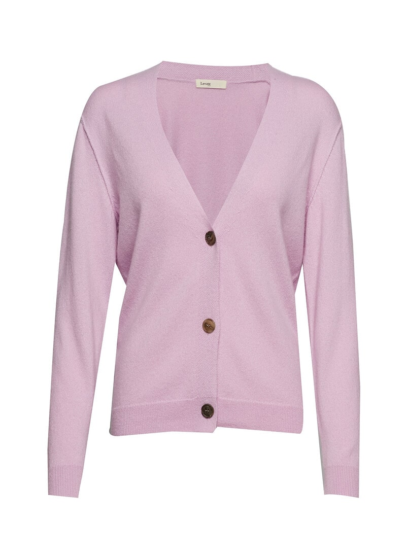 Cashmere Deep V-Neck Cardigan