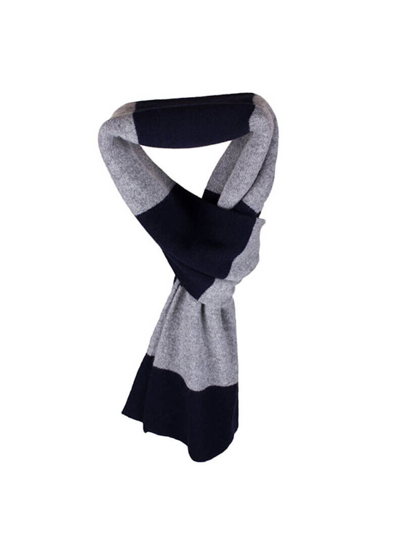Cashmere Double Layer Striped Scarves