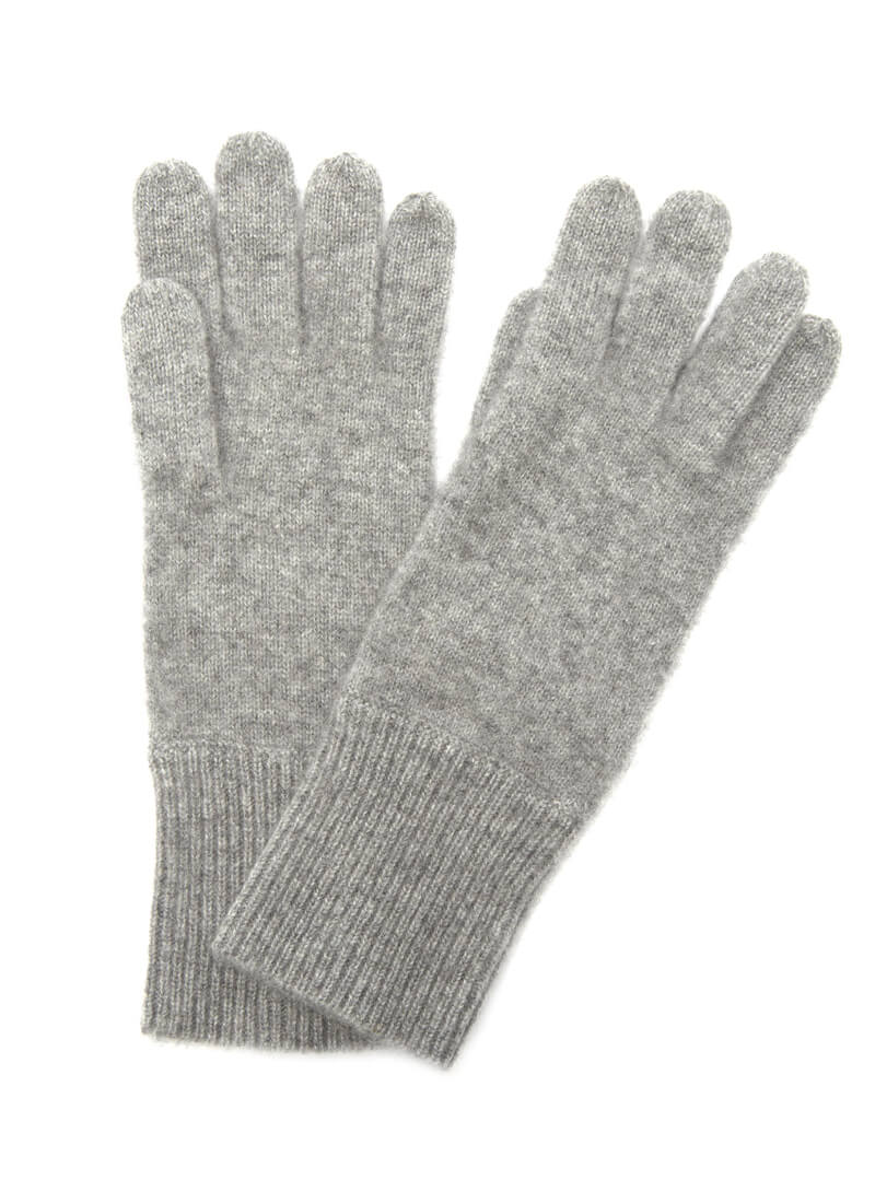Cashmere Glove with Ribbed Cuff