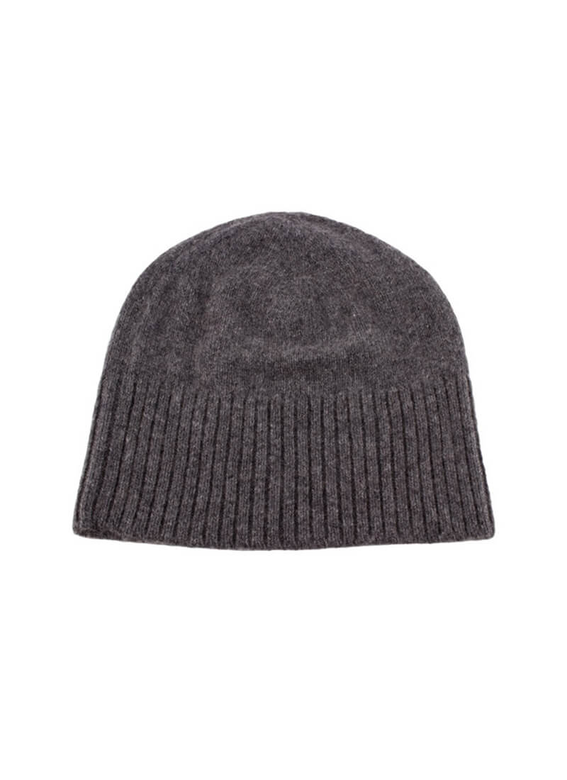 Long Ribbed Cashmere Beanie